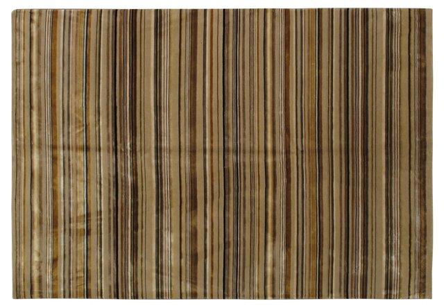 6'x9' Toby Rug, Brown/Beige