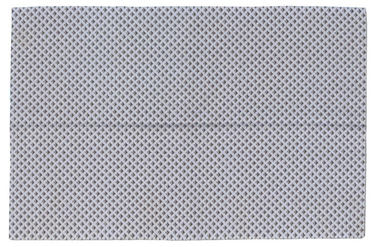4'x7' Maris Flat-Weave Rug, Dusty Blue