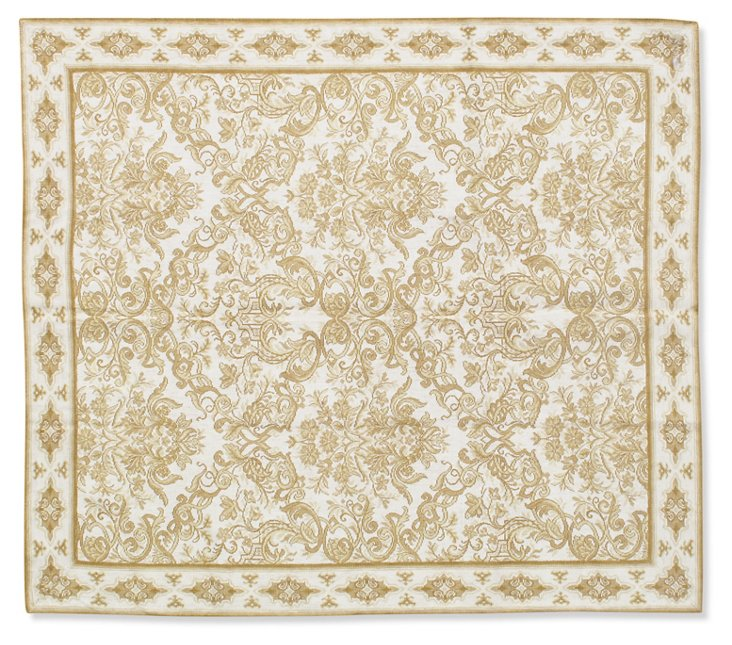 5'x6' Dimanche Flat-Weave Rug, Ivory