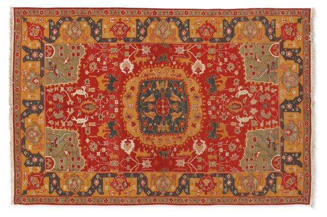 6'x9' Arkadi Rug, Red