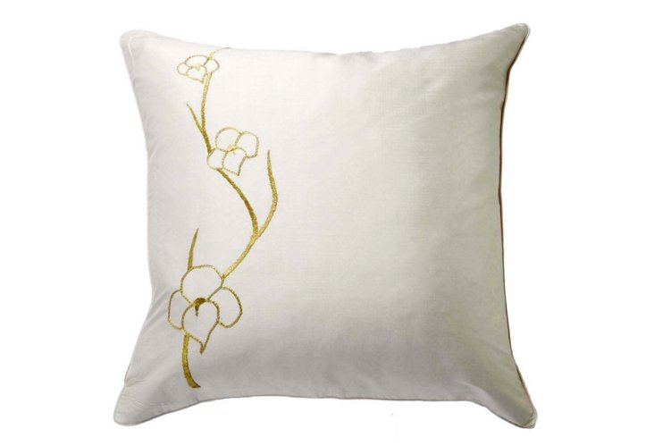 Orchid 20x20 Pillow, Gold