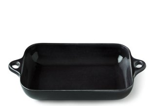 Rectangle Stoneware Baker, Black
