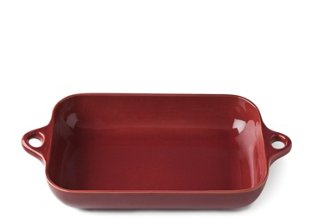 Rectangle Stoneware Baker, Red