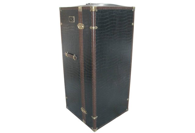 Surcouf Embossed Bar Trunk, Black