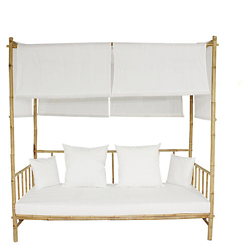 Bamboo Daybed, White