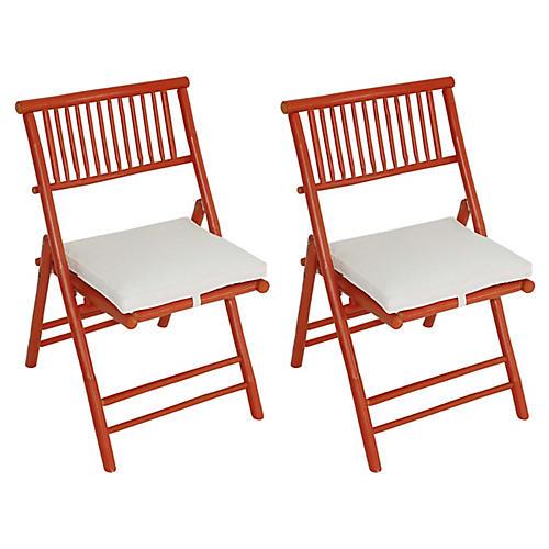S/2 Champion Side Chairs, Orange