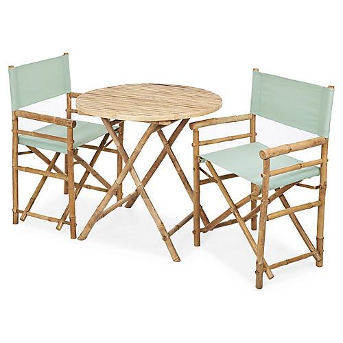 Director's 3-Pc Round Dining Set, Celadon