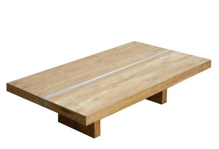"""Plateau 53"""" Trestle Coffee Table, Teak"""