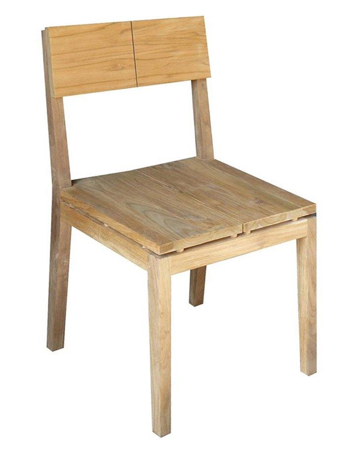 Plateau Side Chair, Teak
