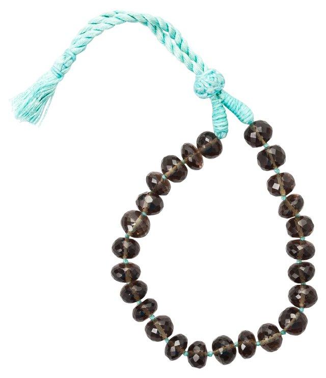 Smoky Topaz Silk Strand Bracelet