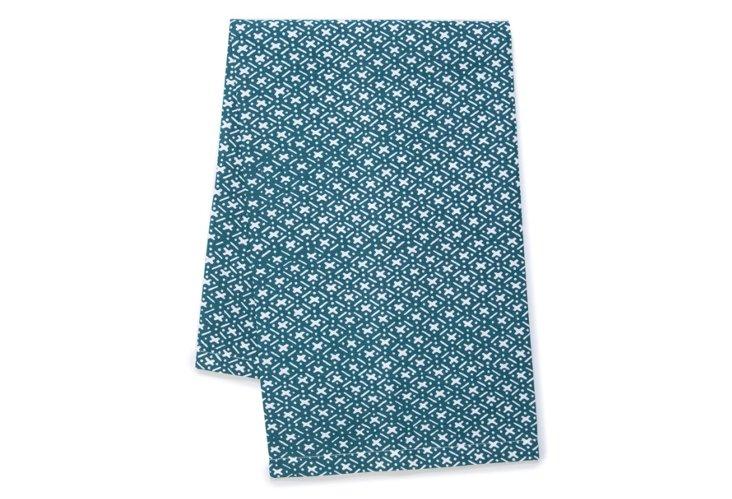 S/2 Criss Cross Tea Towels, Teal