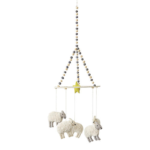 Counting Sheep Mobile, White