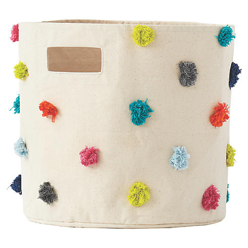 Pom-Pom Kids' Storage, Beige/Multi