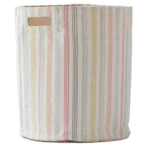 Rainbow Stripe Kids' Storage, Beige/Multi