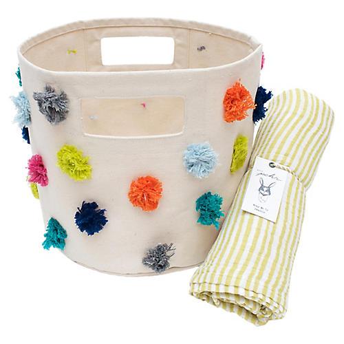 Pom Pom Baby Gift Set, Yellow