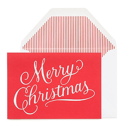 S/6 Merry Christmas Greeting Cards