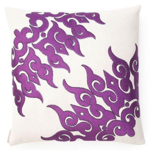 Sivaana 20x20 Jute Pillow, Purple