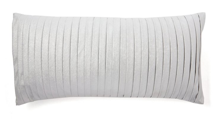 Pleated 14x29 Pillow, Ice