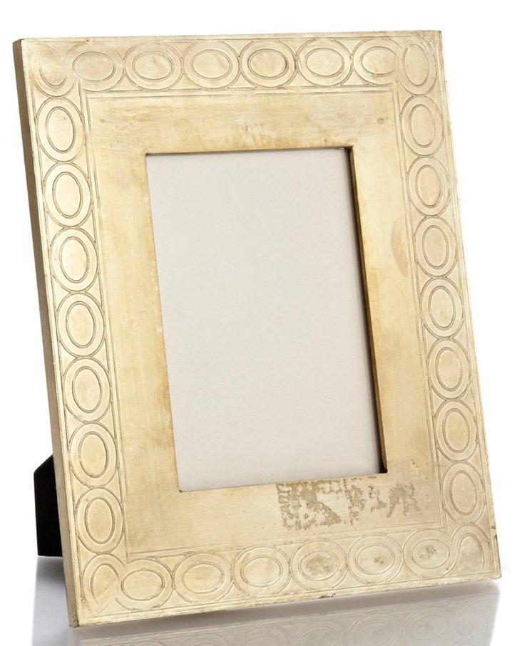 Frame w/ Oval Border, 5x7, Cream