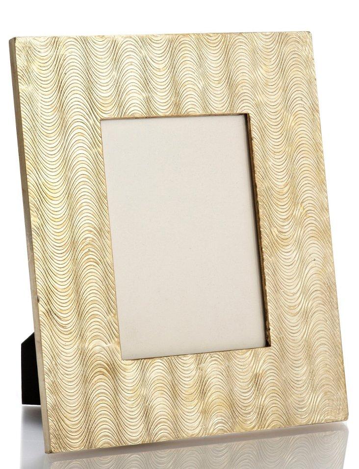 Wavy Frame, 5x7, Cream