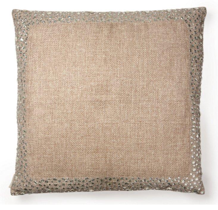 Stone 18x18 Jute Pillow, Natural