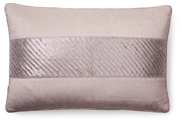 Chic 13x20 Velvet Pillow, Silver