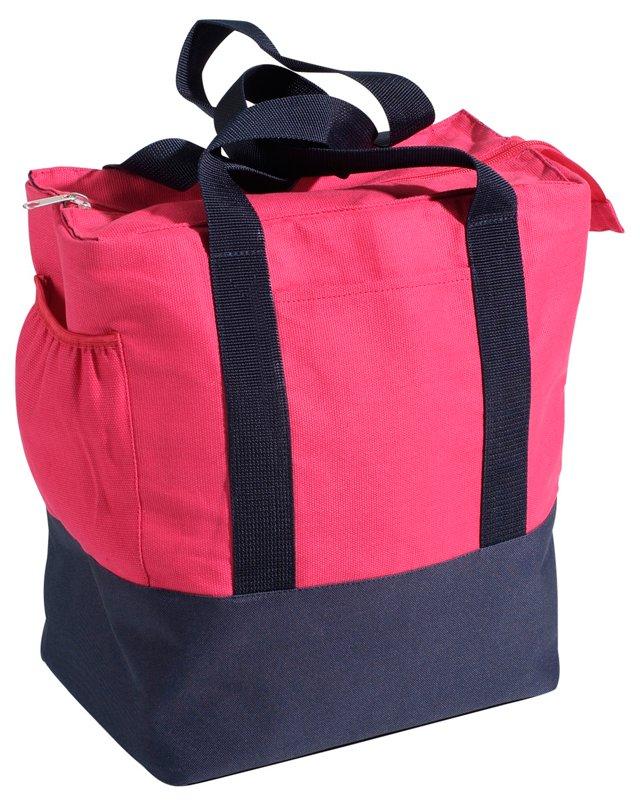 Portland Pannier Bike Bag, Pink/Navy