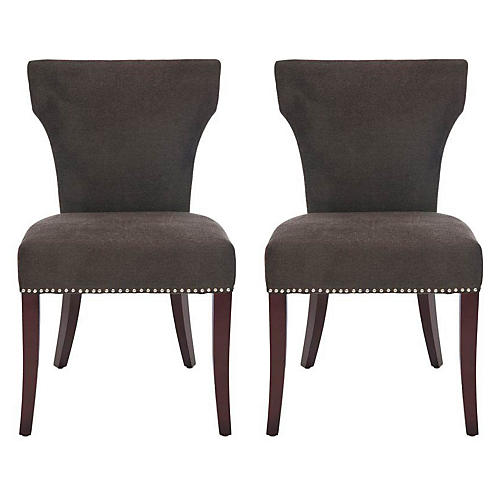 S/2 Milo Side Chairs, Gray