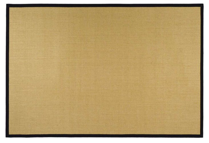9'x12' Lily Sisal Rug, Wheat/Black