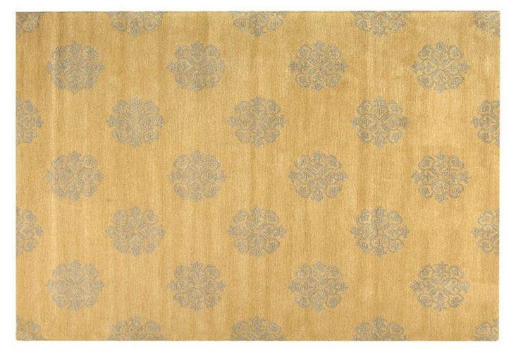 Greenwich Rug, Goldenrod/Taupe