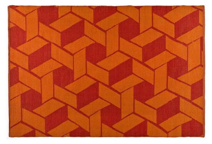 Thom Filicia Outdoor Rug, Orange