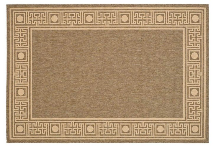 Oliver Outdoor Rug, Coffee/Sand