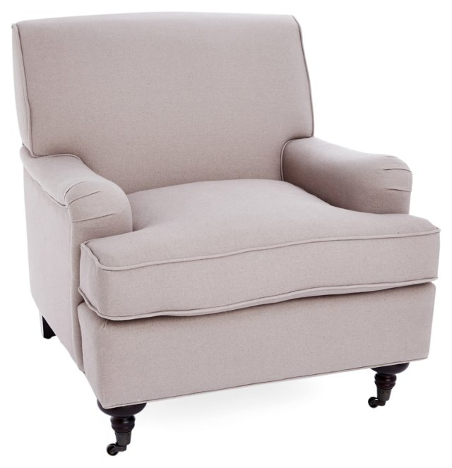Sterling Club Chair, Beige