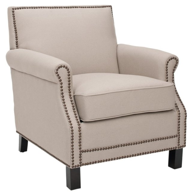 Griffin Club Chair, Beige