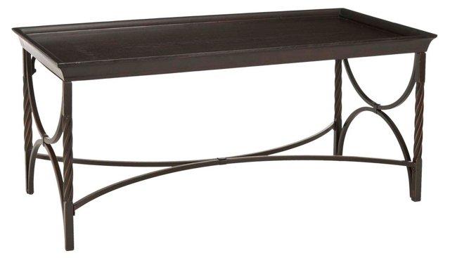 Christopher Cocktail Table, Dark Walnut