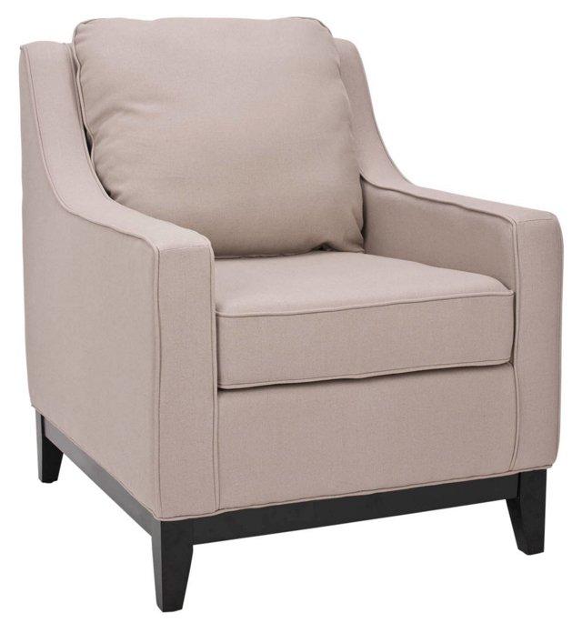 Henrietta Club Chair, Beige
