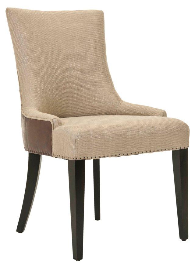 Hayward Dining Chair, Sand/Chocolate