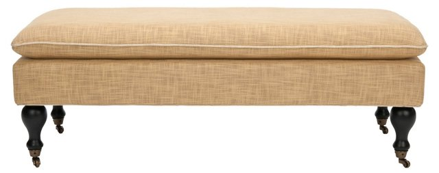Nikolette Pillow-Top Bench, Barley