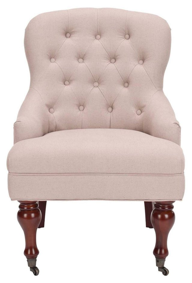 Allegra Tufted Chair, Cream