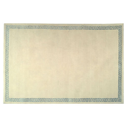 Kasler Hand-Knotted Rug, Cream/Blue
