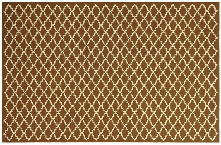 Georgia Rug, Chocolate/Ivory