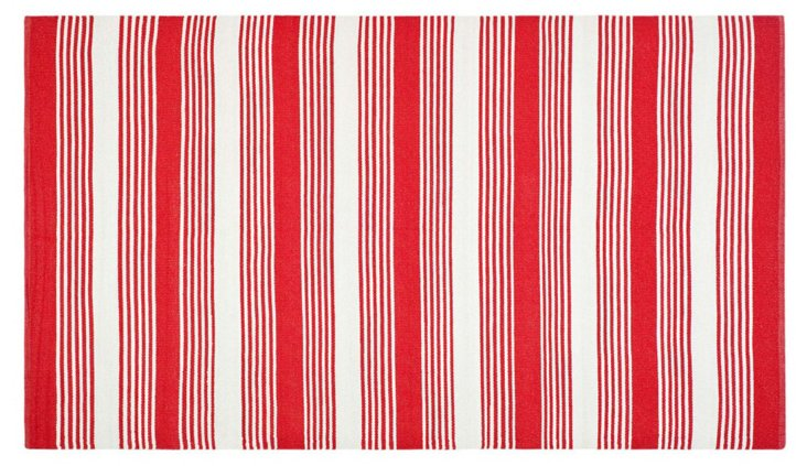 Thom Filicia Outdoor Rug, Red/White