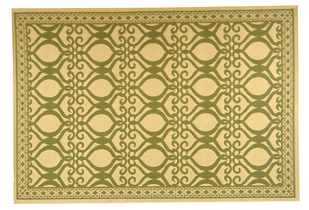 Scout Outdoor Rug, Wheat/Olive