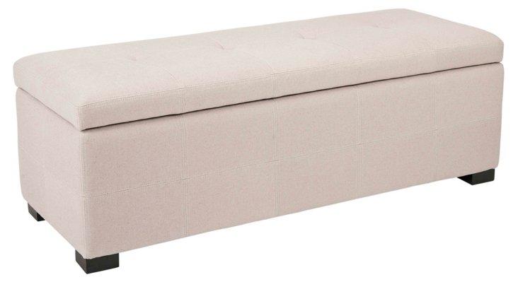 Aly Storage Bench, Beige