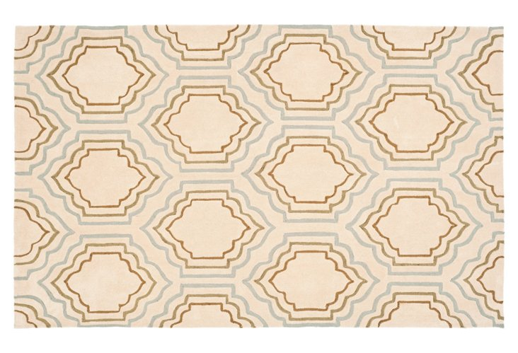 Barncroft Rug, Cream/Pale Blue