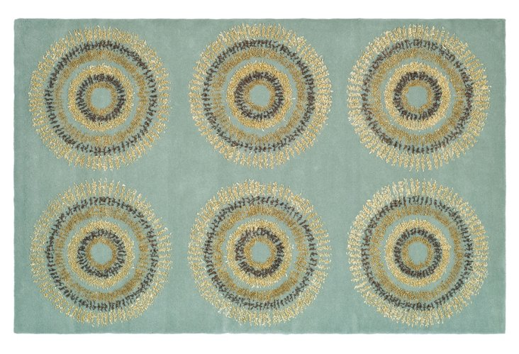 Ivy Rug, Light Blue