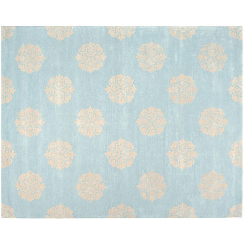 Greenwich Rug, Turquoise