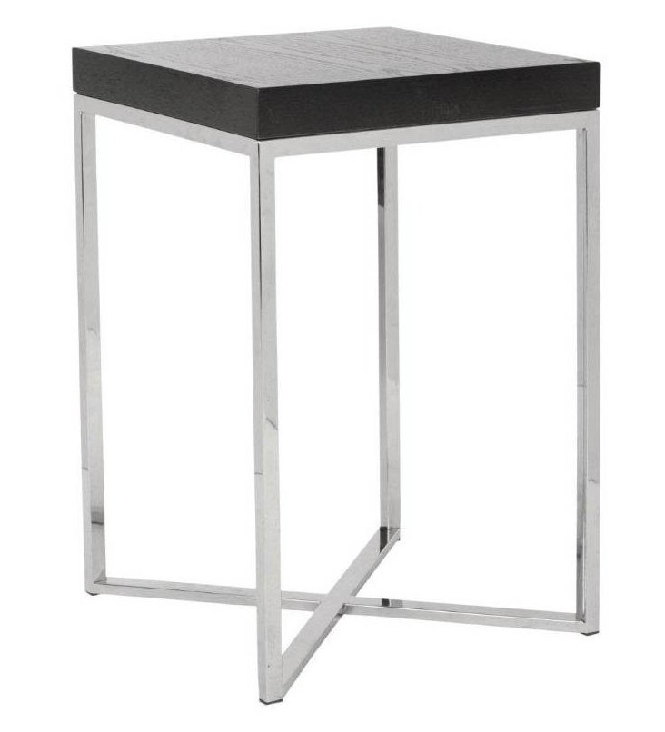 Anderson End Table, Wenge/Silver