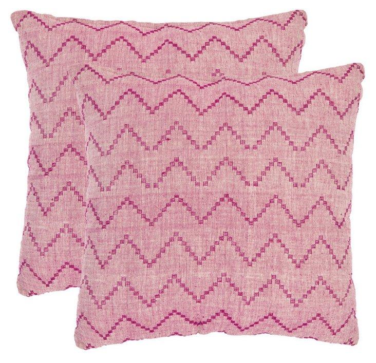 Set of 2 Springer 22x22 Pillow, Multi