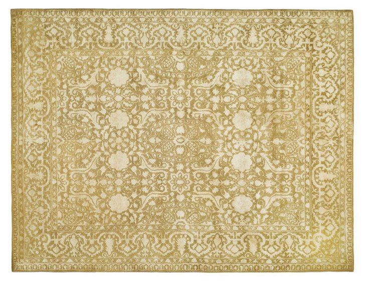 5'x8' Cadence Rug, Olive/Gold/Ivory